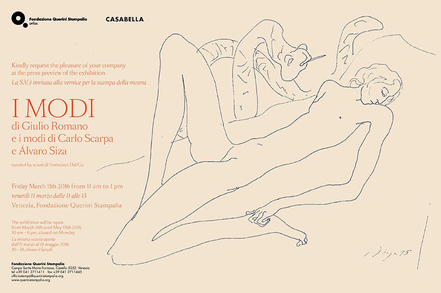 """Mostra """"I Modi"""" di Giulio Romano e i modi di Carlo Scarpa e Álvaro Siza"""
