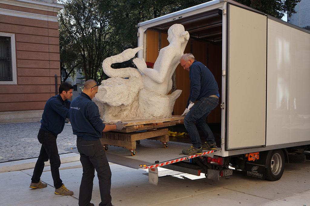 trasporto scultura treviso