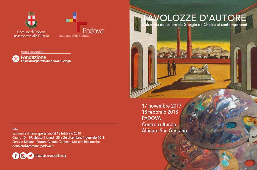 """Trasporto opere A/R per la mostra """"Tavolozze d'autore, L'alchimia del colore da De Chirico ai contemporanei"""""""