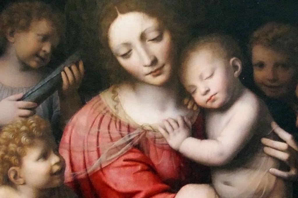 """Trasporto opera """"Madonna con Gesù bambino e angeli"""" di Bernardino Luini"""