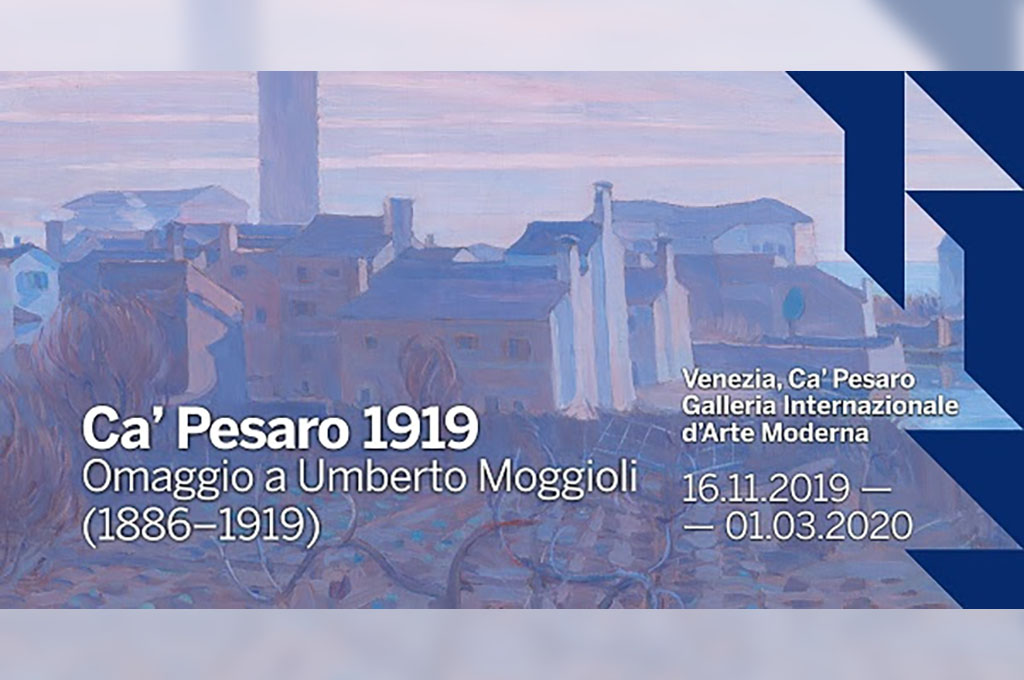 Trasporto opere per la mostra 'Ca' Pesaro 1919 . Omaggio a Umberto Moggioli (1886-1919)'